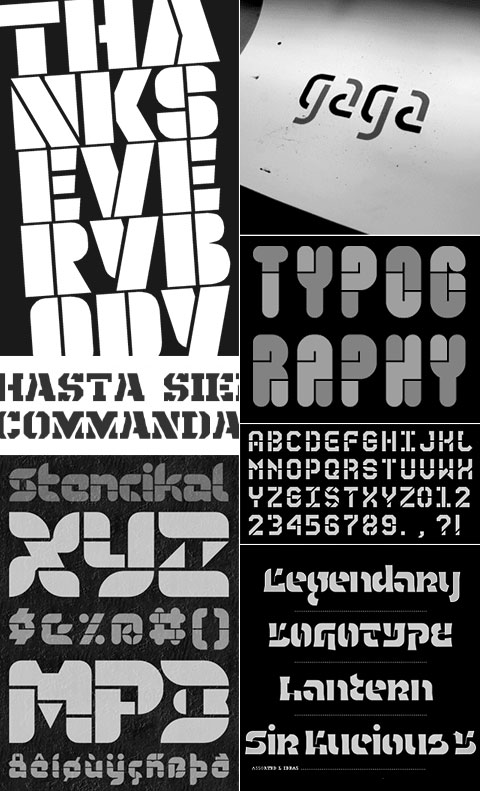 Stencil FontStruction Examples