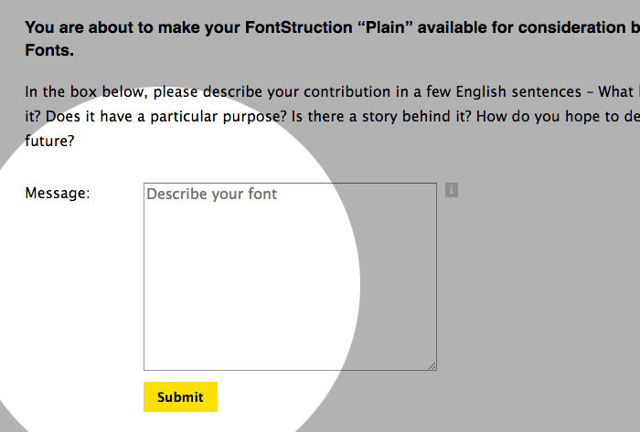 Google Fonts Contribution Form