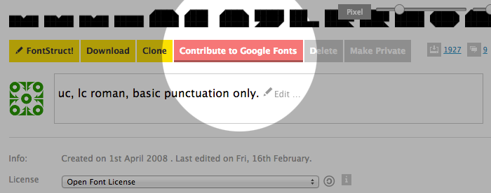 Contribute to Google Fonts